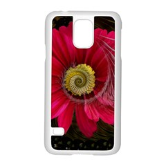Fantasy Flower Fractal Blossom Samsung Galaxy S5 Case (white) by BangZart