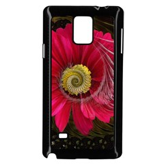 Fantasy Flower Fractal Blossom Samsung Galaxy Note 4 Case (black)