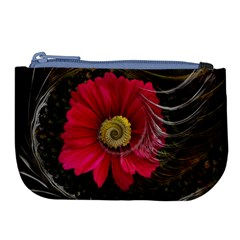 Fantasy Flower Fractal Blossom Large Coin Purse by BangZart