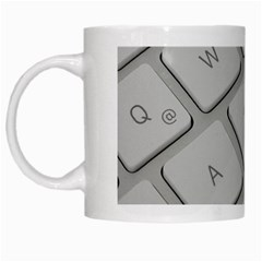Keyboard Letters Key Print White White Mugs