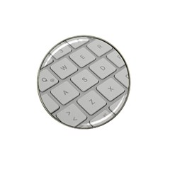 Keyboard Letters Key Print White Hat Clip Ball Marker (10 Pack)