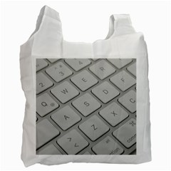 Keyboard Letters Key Print White Recycle Bag (two Side)