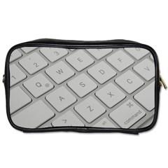 Keyboard Letters Key Print White Toiletries Bags 2 Side by BangZart