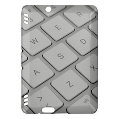 Keyboard Letters Key Print White Kindle Fire Hdx Hardshell Case by BangZart