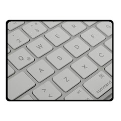 Keyboard Letters Key Print White Double Sided Fleece Blanket (small)  by BangZart