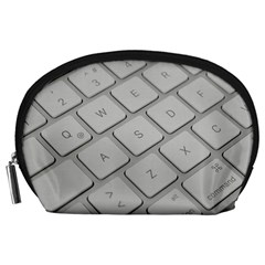 Keyboard Letters Key Print White Accessory Pouches (large)