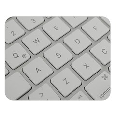 Keyboard Letters Key Print White Double Sided Flano Blanket (large)