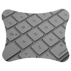 Keyboard Letters Key Print White Jigsaw Puzzle Photo Stand (bow)