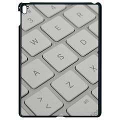 Keyboard Letters Key Print White Apple Ipad Pro 9 7   Black Seamless Case by BangZart