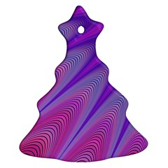 Purple Star Sun Sunshine Fractal Christmas Tree Ornament (two Sides)