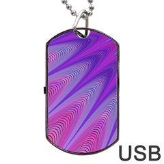Purple Star Sun Sunshine Fractal Dog Tag Usb Flash (one Side)