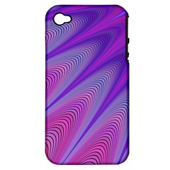 Purple Star Sun Sunshine Fractal Apple Iphone 4/4s Hardshell Case (pc+silicone)