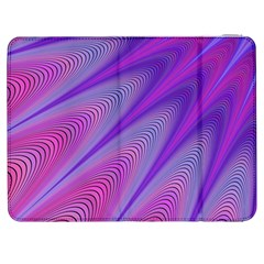 Purple Star Sun Sunshine Fractal Samsung Galaxy Tab 7  P1000 Flip Case by BangZart