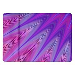 Purple Star Sun Sunshine Fractal Samsung Galaxy Tab 10 1  P7500 Flip Case
