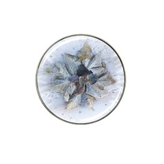 Winter Frost Ice Sheet Leaves Hat Clip Ball Marker (10 Pack) by BangZart
