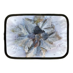 Winter Frost Ice Sheet Leaves Netbook Case (medium)