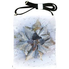 Winter Frost Ice Sheet Leaves Shoulder Sling Bags by BangZart