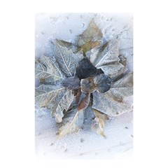 Winter Frost Ice Sheet Leaves Shower Curtain 48  X 72  (small)  by BangZart