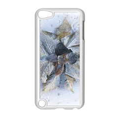 Winter Frost Ice Sheet Leaves Apple Ipod Touch 5 Case (white) by BangZart