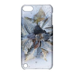 Winter Frost Ice Sheet Leaves Apple Ipod Touch 5 Hardshell Case With Stand