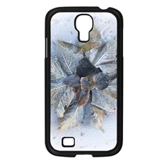 Winter Frost Ice Sheet Leaves Samsung Galaxy S4 I9500/ I9505 Case (black) by BangZart