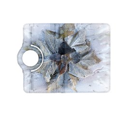 Winter Frost Ice Sheet Leaves Kindle Fire Hd (2013) Flip 360 Case by BangZart