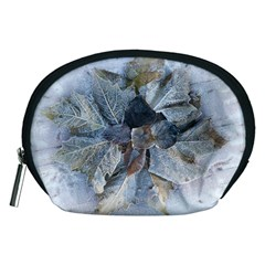Winter Frost Ice Sheet Leaves Accessory Pouches (medium)  by BangZart