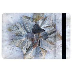 Winter Frost Ice Sheet Leaves Ipad Air 2 Flip by BangZart