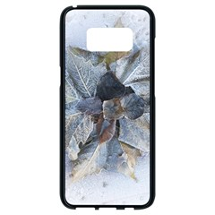 Winter Frost Ice Sheet Leaves Samsung Galaxy S8 Black Seamless Case