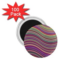 Wave Abstract Happy Background 1 75  Magnets (100 Pack)  by BangZart