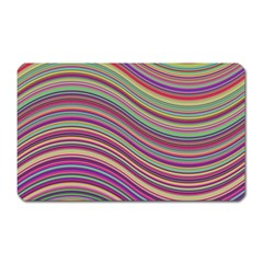 Wave Abstract Happy Background Magnet (rectangular)