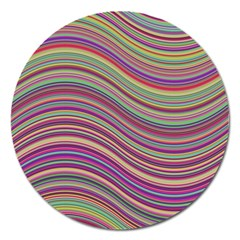 Wave Abstract Happy Background Magnet 5  (round) by BangZart