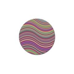 Wave Abstract Happy Background Golf Ball Marker (4 Pack)
