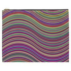 Wave Abstract Happy Background Cosmetic Bag (xxxl)