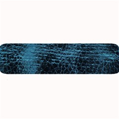 Blue Black Shiny Fabric Pattern Large Bar Mats