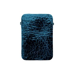 Blue Black Shiny Fabric Pattern Apple Ipad Mini Protective Soft Cases