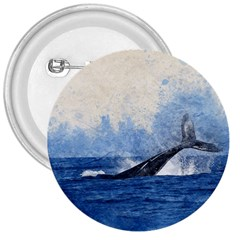 Whale Watercolor Sea 3  Buttons