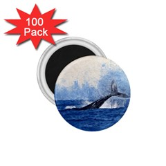 Whale Watercolor Sea 1 75  Magnets (100 Pack)