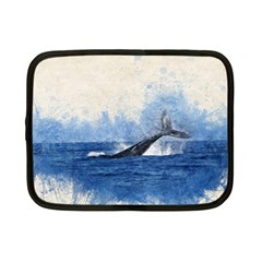 Whale Watercolor Sea Netbook Case (small)