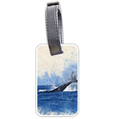 Whale Watercolor Sea Luggage Tags (two Sides)