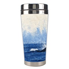 Whale Watercolor Sea Stainless Steel Travel Tumblers by BangZart