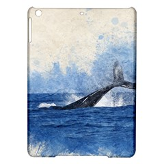 Whale Watercolor Sea Ipad Air Hardshell Cases by BangZart