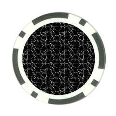 Black And White Textured Pattern Poker Chip Card Guard by dflcprints