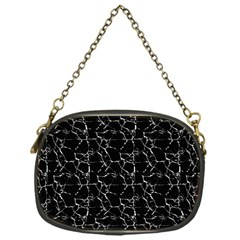 Black And White Textured Pattern Chain Purses (one Side)  by dflcprints