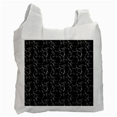 Black And White Textured Pattern Recycle Bag (two Side)  by dflcprints