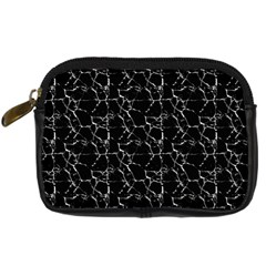 Black And White Textured Pattern Digital Camera Cases by dflcprints