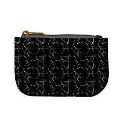 Black And White Textured Pattern Mini Coin Purses by dflcprints