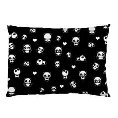 Panda Pattern Pillow Case by Valentinaart