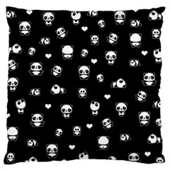 Panda Pattern Standard Flano Cushion Case (one Side) by Valentinaart
