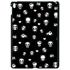 Panda Pattern Apple Ipad Pro 9 7   Black Seamless Case by Valentinaart